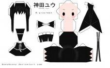 Куклы аниме из бумаги схема
