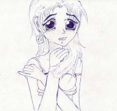 Рисунки аниме-девушек
